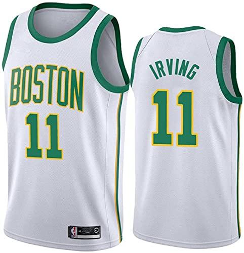 Movement Jersey de baloncesto sin mangas, chaleco de baloncesto Celtic #11, transpirable, malla bordada, camiseta clásica de baloncesto, camiseta Swingman (tamaño: /L, color: G3)