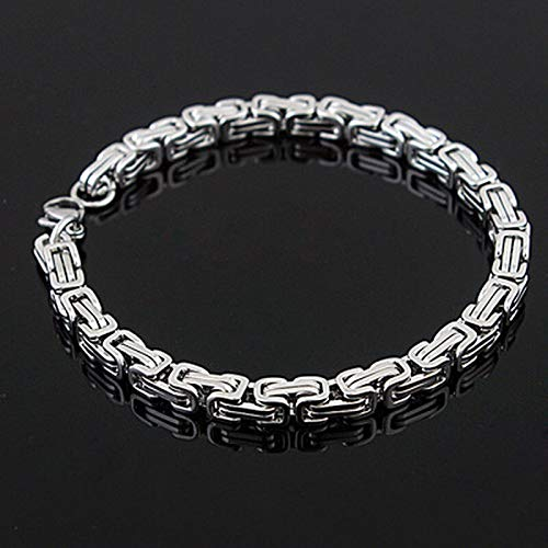 CHCO Pulsera de acero inoxidable pulseras de eslabones de cadena de bicicleta pulsera para hombres joyería de moda