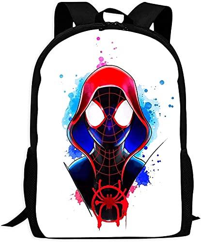 Spider-Man Mochila escolar para niños, diseño de superhéroe con dibujos animados y anime, mochila ergonómica para jóvenes de 1ª clase (Spider-Man de 7,6 cm)