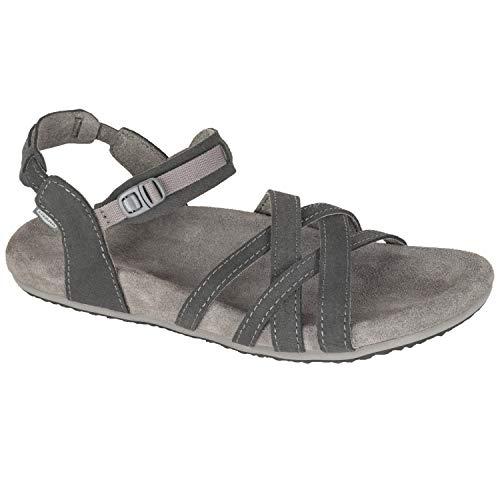 Lizard Sandalia MESA Leather Unisex-Sandalen für Freizeit und Sport, für Erwachsene, Kohleschwarz, 38 EU