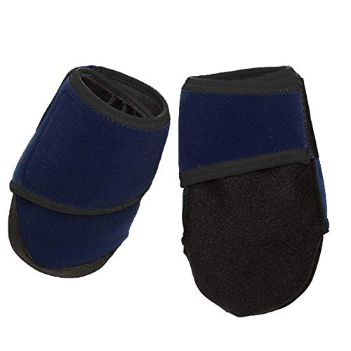 Healers Nonslip Paw Protection Dog Booties for Medium Size Dogs - Soft Comfortable Dog Boots With Best Paw Traction - Gauze Included (Blue)