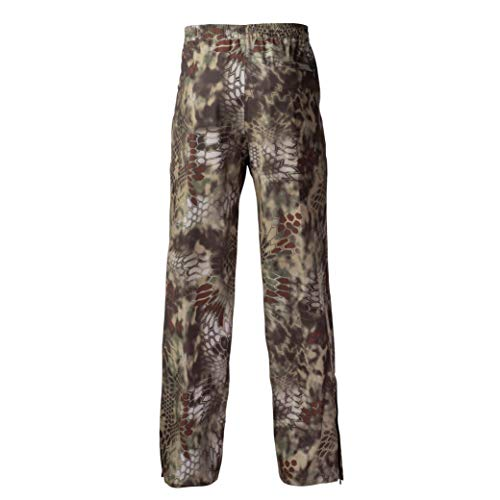 Kryptek Jupiter Camo Pantalon de Pluie 100% imperméable avec Coutures thermocollées Motif Camouflage 3D, Homme, Mandrake, Large