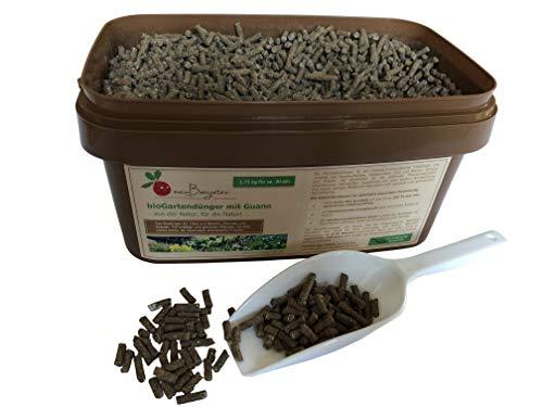 bioGartendünger mit Guano für Gemüse, Kräuter, Obst & Beeren - Preis-Leistungssieger im Test - für ein gesundes, langanhaltendes Wachstum - Größen: 0,6 / 1,75 / 4 / 2x4 kg.