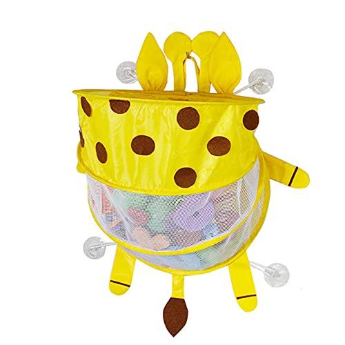 lefeindgdi Organizador de juguetes de baño de bebé, bolsa de almacenamiento de baño de bebé con...