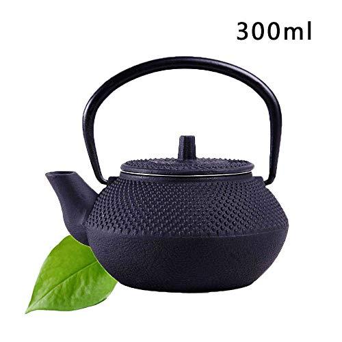 QUUY Tetera de tetsubin Japonesa de Tetera de Hierro Fundido de 50 ml / 300 ml con infusor, hervidor de té para variedades de té de Hojas Sueltas, bolsitas de té - Interior Recubierto de Esmalte