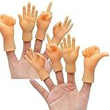 Yolococa Tiny Hands Kleine Hände Mini Hände Fingerpuppen Linke und Rechte Hand Streichspielzeug (8 Stück)