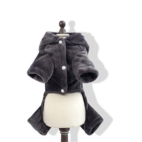 PETCUTE Cappotto per Cani Felpe con Cappuccio per Cane Taglia Piccola, Media e Grande Giubbotti Caldo per Cani Inverno