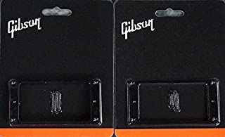 Gibson Pickup Mounting Ring Bridge and Neck Set Black