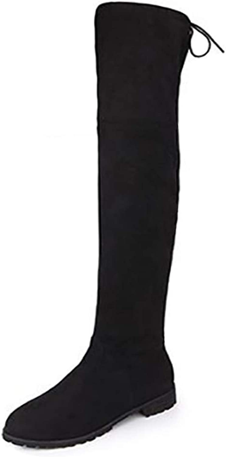 aeed182c488 V-DOTE Womens Ladies Stretch Thigh High Boots Boots Boots Suede ...