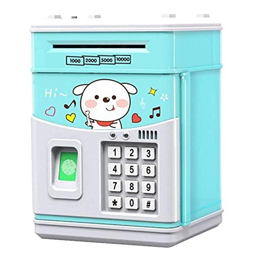 Overvloedi Alcancía electrónica con código, alcancía de Monedas, Banco Seguro para niños Red