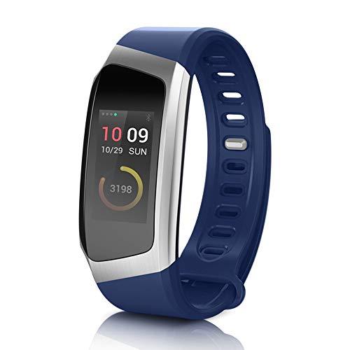 Yarrashop Fitness Tracker, Touchscreen IP67 Wasserdicht Armbanduhr, Pulsmesser Schlafmonitor Schrittzähler Kalorienzähler Vibrationsalarm Aktivitätstracker für iOS Android Damen Herren (Blau)