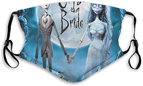 Corpse Bride Kids Face Mask Reusable Washable Unisex Adults Fabric Face Mask with Adjustable Ear Strap and Nose Strip