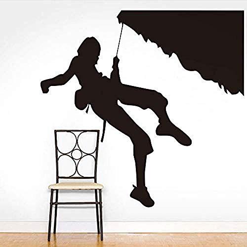 Woonkamer Muurstickers Extreme Sport Muurstickers Rock Klimmen Bergbeklimmen Silhouette Vinyl Afneembare Behang DIY Muurstickers Kinderen S Kamer Home Decoratie 59X61Cm
