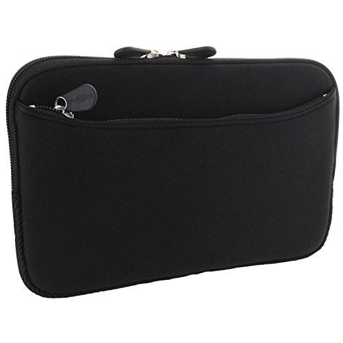 XiRRiX Tablet PC Tasche - Neopren Schutzhülle mit Zubehörtasche - Size bis 20,32 cm (8 Zoll) max. Größe von 227 x 137 mm - Hülle in schwarz