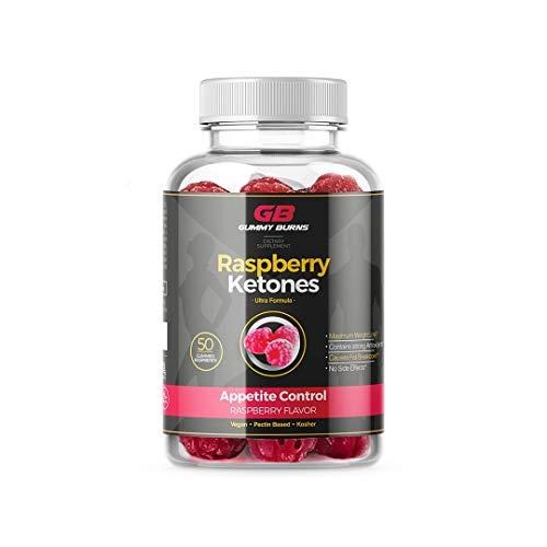 Gummy Burns Raspberry Ketones Appetite Control - Gluten-Free Fat Burner Vegan 50