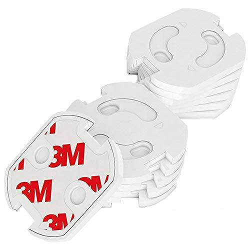 DigitalTech® - Protector de seguridad para enchufe para bebes y niños. Kit de 20 protectores. Protección infantil con mecanismo de giro automático.