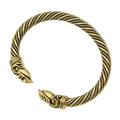 MOONRING Kreative Rabe Armband Vogel Armreif Vintage Stil Armband Eröffnung Unisex Armband, Altgold
