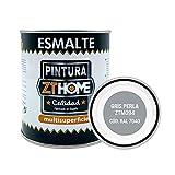 Pintura color Gris Perla Interior / Exterior / Multisuperfie para azulejos baño cocina , madera, puertas, metal, radiadores, muebles, ceramica / Esmalte sintentico en 375 ml / RAL 7040