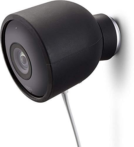 Fundas de Silicona de Color para cámara de Seguridad de Exterior Nest CAM – Protege y camufla, Fundas de Silicona Resistentes a Rayos UV e Impermeables de Wesserstein (1 Pack, Negro)