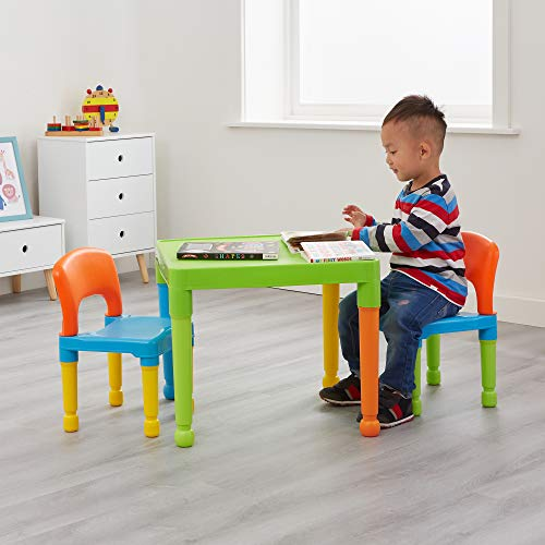Liberty House Toys Ensemble Table et 2 chaises pour Enfants, en Plastique, Multicolore