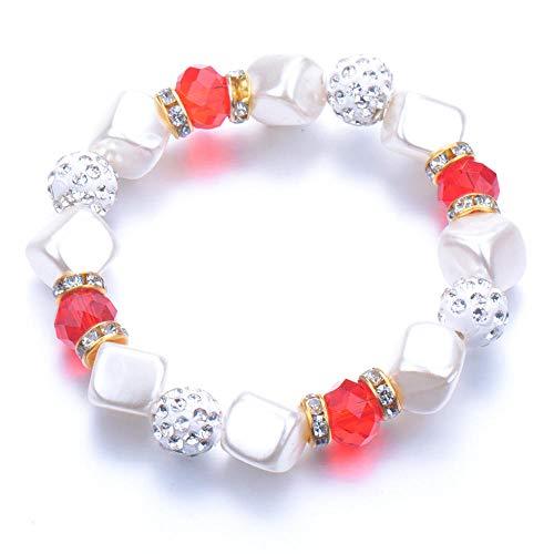 Pulseras Brazalete Joyería Mujer Bead Pearl Bracelets Bangles Pulsera De Cuentas Crystal Beads Jewelry Gift-Antique_Copper_Plated