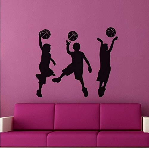 Kleine Basketballspieler Wandaufkleber Sport Home Decor Abnehmbare Wandtattoos Für Kinderzimmer Sport Jungen Schlafzimmer Wandbild 60X50 Cm