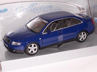 Welly A-U-D-I A4 B6 Blau Limousine 2000-2004 1/24 Modell Auto mit individiuellem Wunschkennzeichen