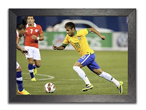 Neymar Brasilianer Fußballspieler Bunt Poster #2 UEFA Champions League, FC Barcelona, Sport, Sportler, Fußball, Tor schießen, Plakat A3 420 x 297mm