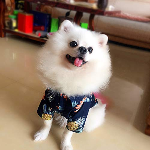 NINGXIAONING Lente en zomer Leuke puppy puppy huisdier zeer comfortabel badpak met korte mouwen, zwart, L
