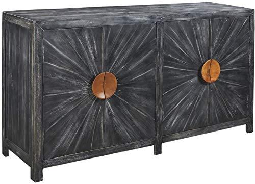 Signature Design by Ashley - Kademore Accent Cabinet - Boho Chic - Antique Black