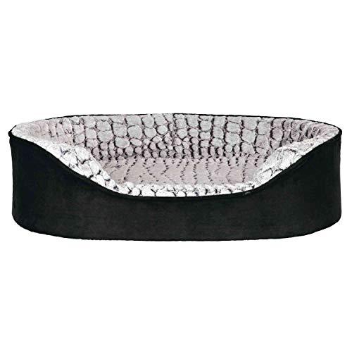 Trixie Vital lit Lino 110 × 92 cm noir/gris,