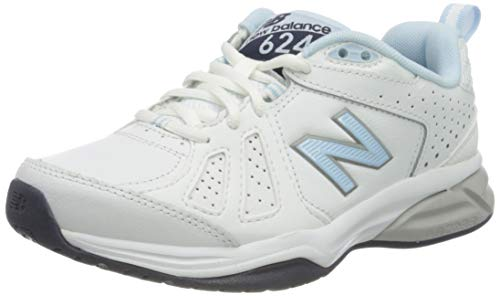 New Balance 624v5 M, Zapatillas Mujer, Blanco (White/Light Blue), 36.5 EU
