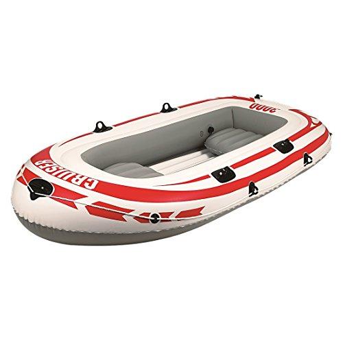 Jilong Cruiser 3000 Set - gommone a Remi Gonfiabile incl. pagaia e Pompa, Portata 265kg, Dimensioni canotto 252x125x40 cm
