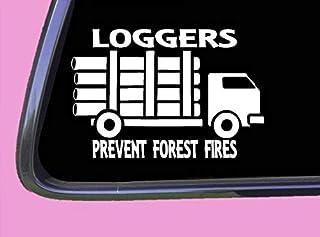 DKISEE Logging skog bränder klistermärke dekal tp 1360 15 cm lastbil log logger present 15 cm