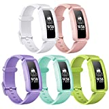 KOLEK Bands Compatible with Fitbit Ace 2 for Kids,Soft Silicone Waterproof Bracelet Accessories Sports Watch Strap Wristbands Replacement for Fitbit Ace 2 Boys Girls (5pack)
