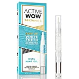 Active Wow 24K White Teeth Whitening Pen with Mint Oil - 36% Carbamide Peroxide On The Go Whitening Gel - for Powerful Dental-Grade Whitening Results from Anywhere