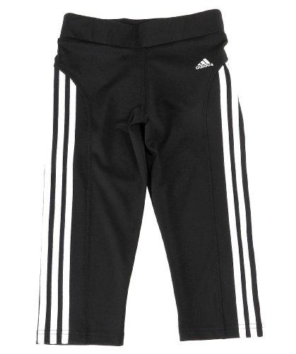 adidas YG C C 3/4Tigh, Color Blanco/Negro, tamaño 15 años (164 cm)