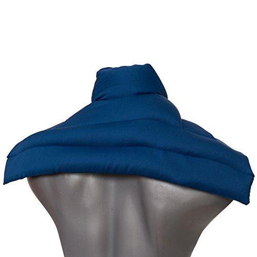 Kirschkernkissen Schulter & Nackenkissen mit Kragen. Gute Wärme für den Nacken. Eine Alternative zum Nackenhörnchen | Bio-Stoff enzianblau
