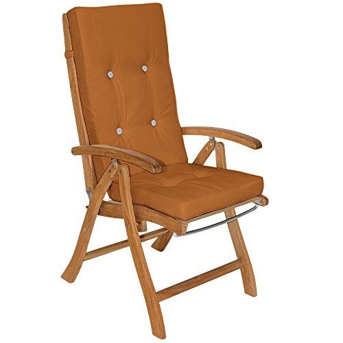6X Coussin De Chaise - 100% Polyester - pour Chaise à Dossier Haut Brun