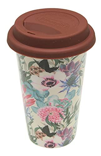DeLonghi DLSC065 - Taza térmica de cerámica con tapa de silicona