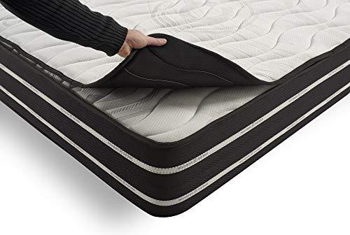 COSMOS   Topper Air Carbon   Matratzenauflage 135x190 cm   Optimale Ergänzung Für Vollkommenes Schlafgefühl   Löst Muskelverspannungen   Beste Komfort Unterstützung   Anti-Feuchtigkeit Ultrabelüftet