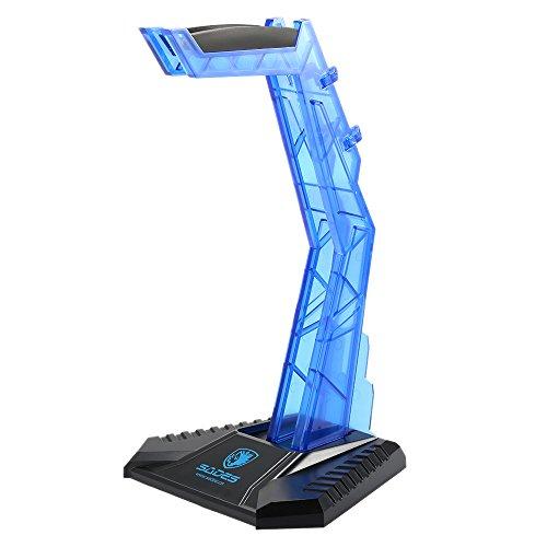 SADES Soporte para Gaming Auriculares Soporte de Exhibición Profesional para Colgar Azul