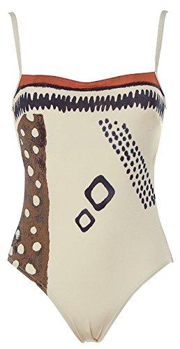 Rasurel Damen Bügel Badeanzug Beachwear C-Cup Creme 36 C
