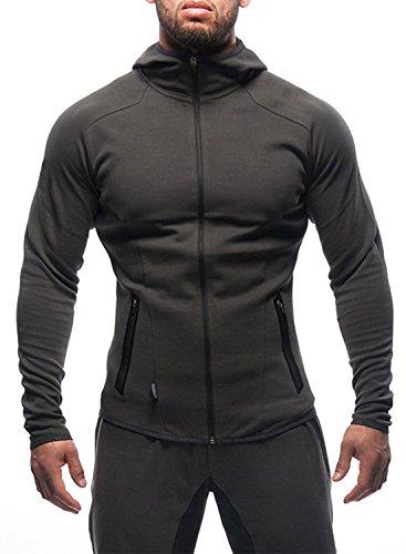 Ouber Athletic Men's Dri Power Hooded Zip-Front Fleece Sweatshirt