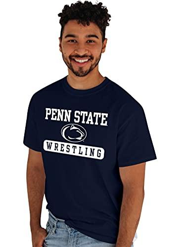 Blue 84 Men's Standard T Shirt Wrestling, Penn State Nittany Lions Navy, X-Large