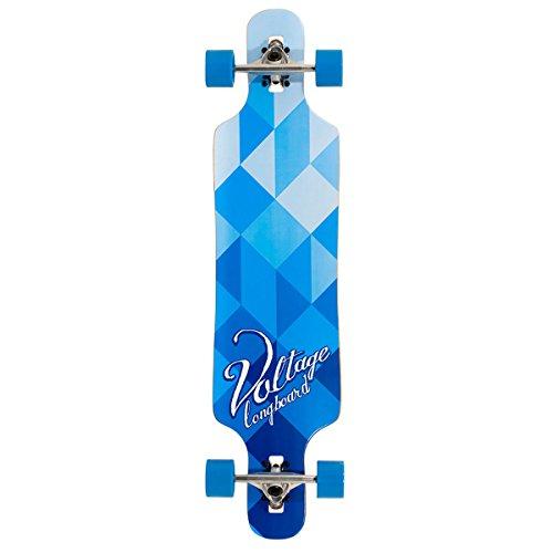 Voltage VOLLB401, Skateboard Unisex – Adulto, (Blu/Bianco), Taglia Unica
