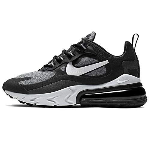 Price comparison product image Nike Women's Air Max 270 React Optical Black / Vast Grey-Off Noir-Black AT6174-001 (Size: 8)
