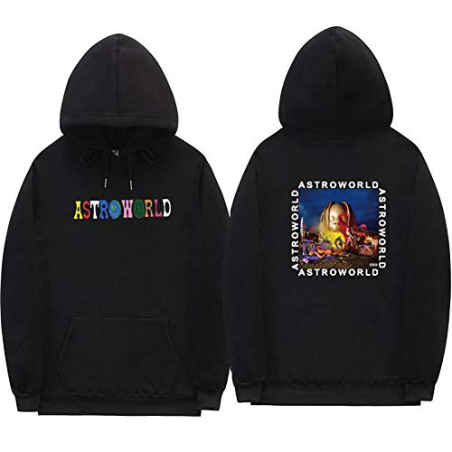 JJZHY Sudadera con Capucha Personalizada Caliente de la impresión de la Moda de Astroworld Travis Scotts Unisex 7 Color