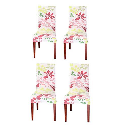 Chair Cover Stuhlbezug Abdeckungen für esszimmer stühle Stuhl Protektoren abdeckungen Diningchair abdeckungen Einfach fit Stuhl abdeckungen Set of 4,pink