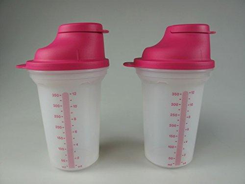 TUPPERWARE Backen Mix-Fix (2) klein 350 ml pink Shaky Küchenhelfer Shake It 8194